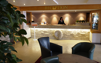The Heights Hotel reception. We hope you enjoy your stay!