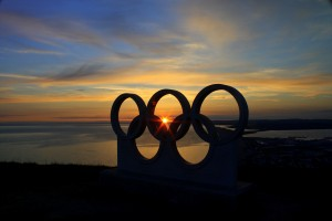 Olympic Ring Sunset