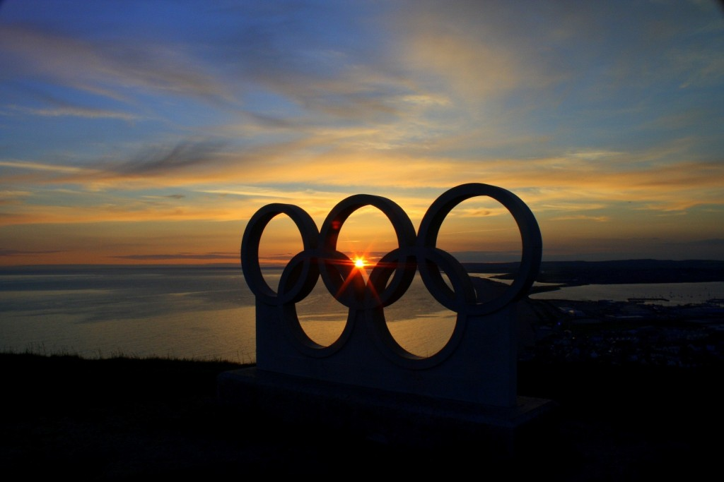 Olympic Rings Sunset laura day